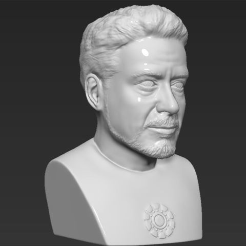 Tony Stark Robert Downey Jr Iron Man bust ready for 3D printing