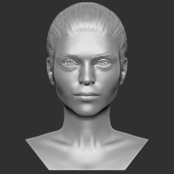 1.jpg Download STL file Beautiful woman bust 3D printing ready TYPE 1 • 3D printable model, PrintedReality