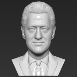 1.jpg Download STL file President Bill Clinton bust 3D printing ready stl obj formats • 3D print object, PrintedReality