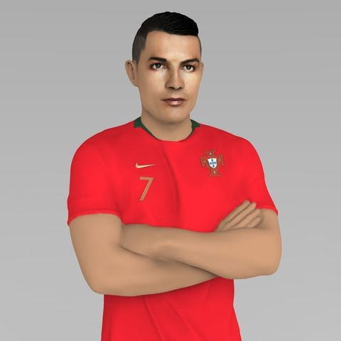 official photos a1966 6ecdb Cristiano Ronaldo Portugal ready for full color 3D printing