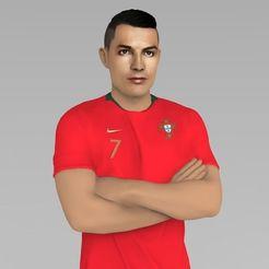 Télécharger plan imprimante 3D Cristiano Ronaldo Portugal prêt pour l'impression 3D couleur, PrintedReality