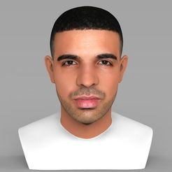 Download 3D printing designs Drake bust ready for full color 3D printing, PrintedReality