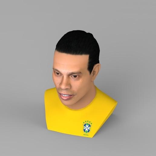 untitled.1687.jpg Download STL file Ronaldinho bust ready for full color 3D printing • 3D print model, PrintedReality