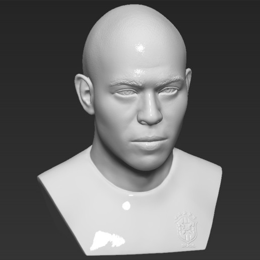 11.jpg Download STL file Ronaldo Nazario Brazil bust 3D printing ready stl obj formats • Template to 3D print, PrintedReality