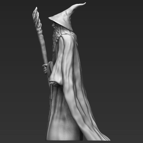 Gandalf the Lord of the Rings Hobbit 3D printing ready stl obj