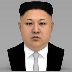 3D print model Kim Jong-un bust ready for full color 3D printing, PrintedReality