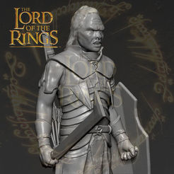 3D printer models Lurtz Uruk-Hai The Lord of the Rings 3D printing ready stl obj, PrintedReality