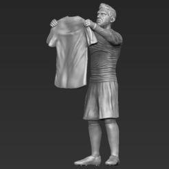 Télécharger STL Lionel Messi figurine prête pour l'impression 3D, PrintedReality
