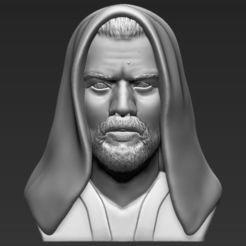 STL Obi Wan Kenobi Star Wars bust 3D printing ready stl obj, PrintedReality