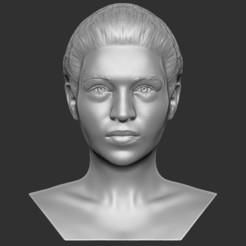 1.jpg Download STL file Beautiful woman bust ready for full color 3D printing TYPE 2 • 3D print design, PrintedReality