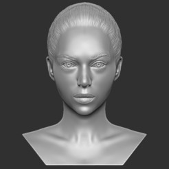 1.jpg Download STL file Beautiful woman bust 3D printing ready TYPE 9 • 3D printer template, PrintedReality