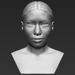 Modèle 3D Nicki Minaj buste de Nicki Minaj impression 3D stl obj prêt à l'emploi, PrintedReality