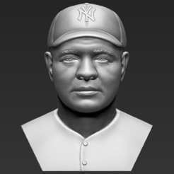 1.jpg Download STL file Babe Ruth bust 3D printing ready stl obj formats • 3D printable design, PrintedReality