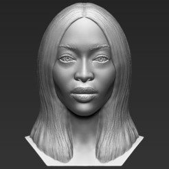 1.jpg Download STL file Naomi Campbell bust 3D printing ready stl obj formats • 3D printing design, PrintedReality