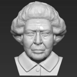queen-elizabeth-ii-bust-ready-for-full-color-3d-printing-3d-model-obj-mtl-stl-wrl-wrz (22).jpg Download STL file Queen Elizabeth II bust 3D printing ready stl obj • Object to 3D print, PrintedReality