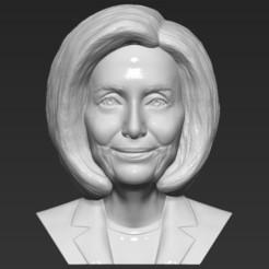 1.jpg Download STL file Nancy Pelosi bust 3D printing ready stl obj formats • 3D printing template, PrintedReality