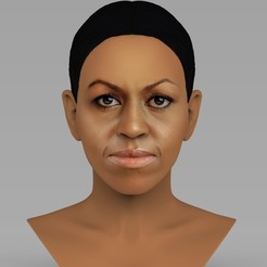 untitled.1619.jpg Download STL file Michelle Obama bust ready for full color 3D printing • 3D printing object, PrintedReality