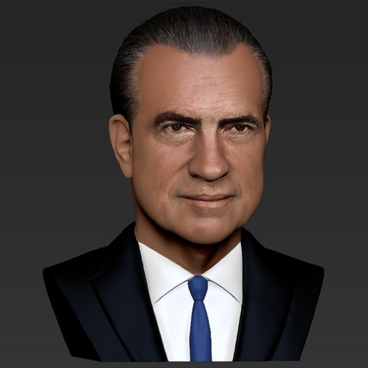 Richard Nixon In Color: Download 3D Printing Designs Richard Nixon Bust Ready For