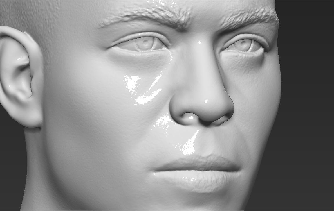 16.jpg Download STL file Ronaldo Nazario Brazil bust 3D printing ready stl obj formats • Template to 3D print, PrintedReality