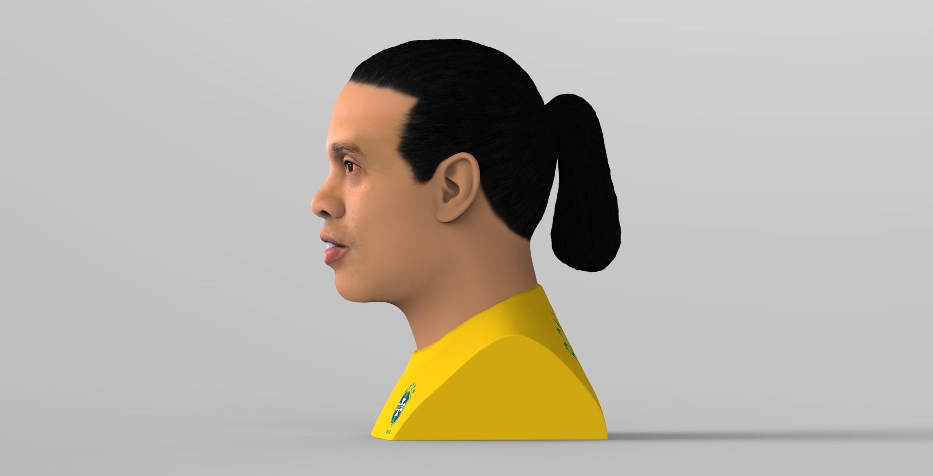 untitled.1682.jpg Download STL file Ronaldinho bust ready for full color 3D printing • 3D print model, PrintedReality