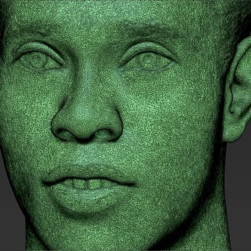 35.jpg Download STL file Ronaldinho bust ready for full color 3D printing • 3D print model, PrintedReality