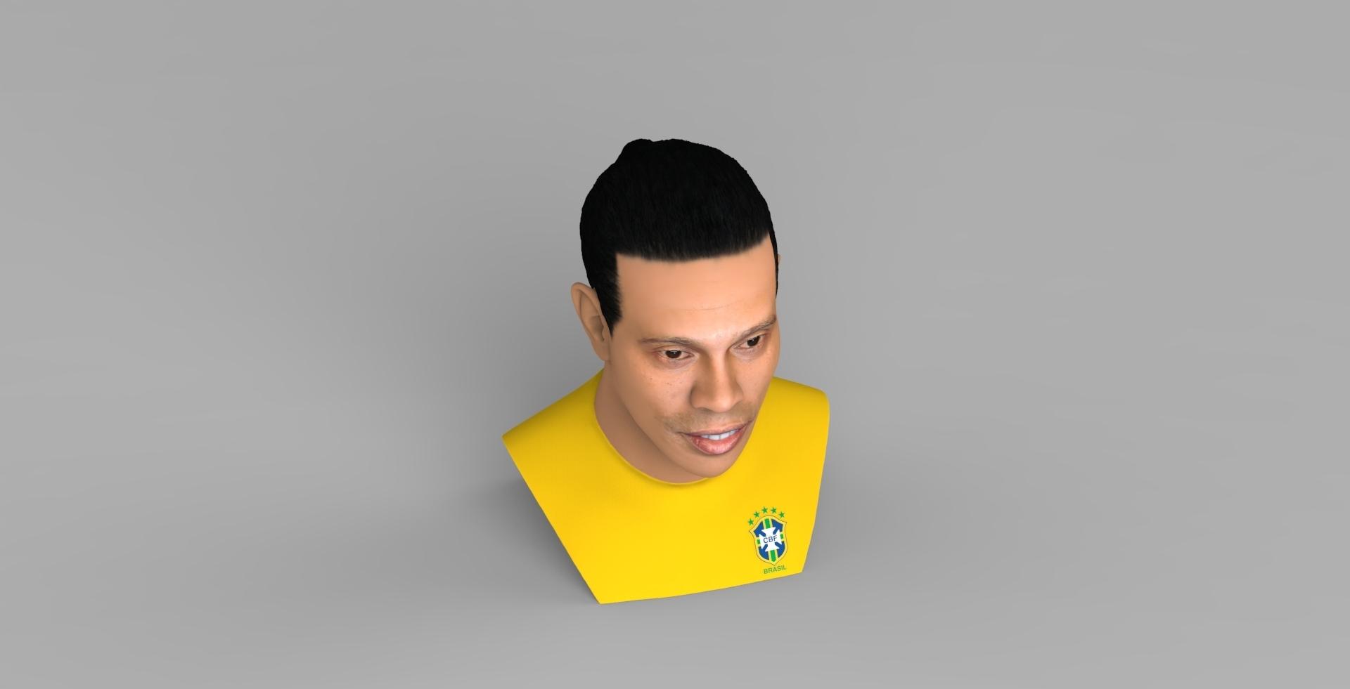 untitled.1686.jpg Download STL file Ronaldinho bust ready for full color 3D printing • 3D print model, PrintedReality