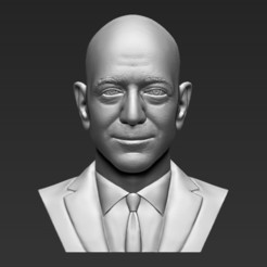 Download STL file Jeff Bezos bust 3D printing ready stl obj formats, PrintedReality