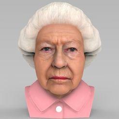 queen-elizabeth-ii-bust-ready-for-full-color-3d-printing-3d-model-obj-mtl-stl-wrl-wrz.jpg Download STL file Queen Elizabeth II bust ready for full color 3D printing • 3D printing model, PrintedReality