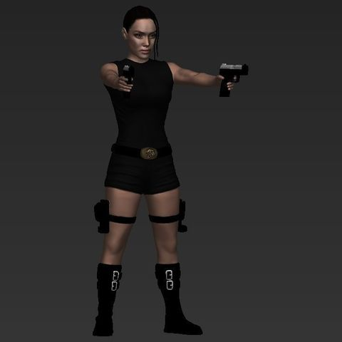 Download 3d Printer Model Lara Croft Tomb Raider Jolie Ready For