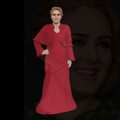 Download 3D printing designs Adele ready for full color 3D printing, PrintedReality