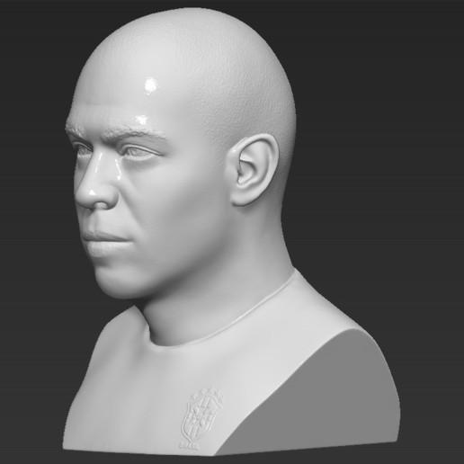 3.jpg Download STL file Ronaldo Nazario Brazil bust 3D printing ready stl obj formats • Template to 3D print, PrintedReality