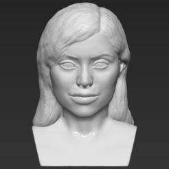 3D printing model Kylie Jenner bust 3D printing ready stl obj, PrintedReality