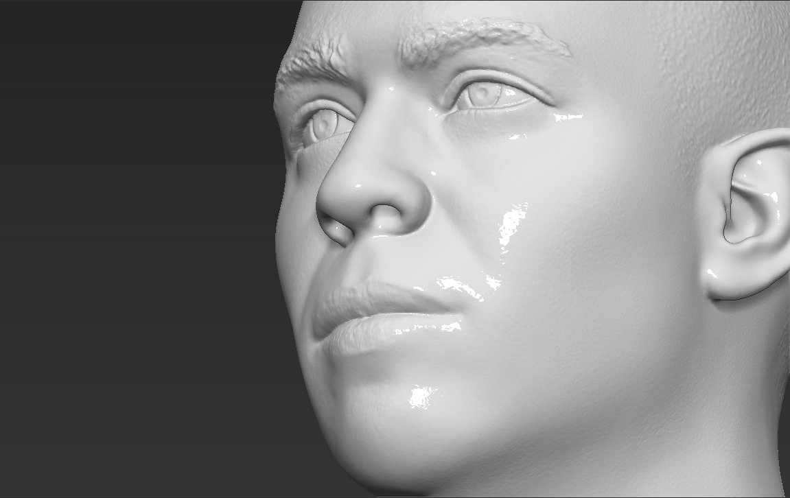 18.jpg Download STL file Ronaldo Nazario Brazil bust 3D printing ready stl obj formats • Template to 3D print, PrintedReality