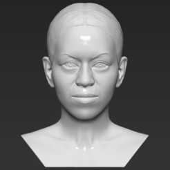 1.jpg Download STL file Michelle Obama bust 3D printing ready stl obj formats • 3D print template, PrintedReality