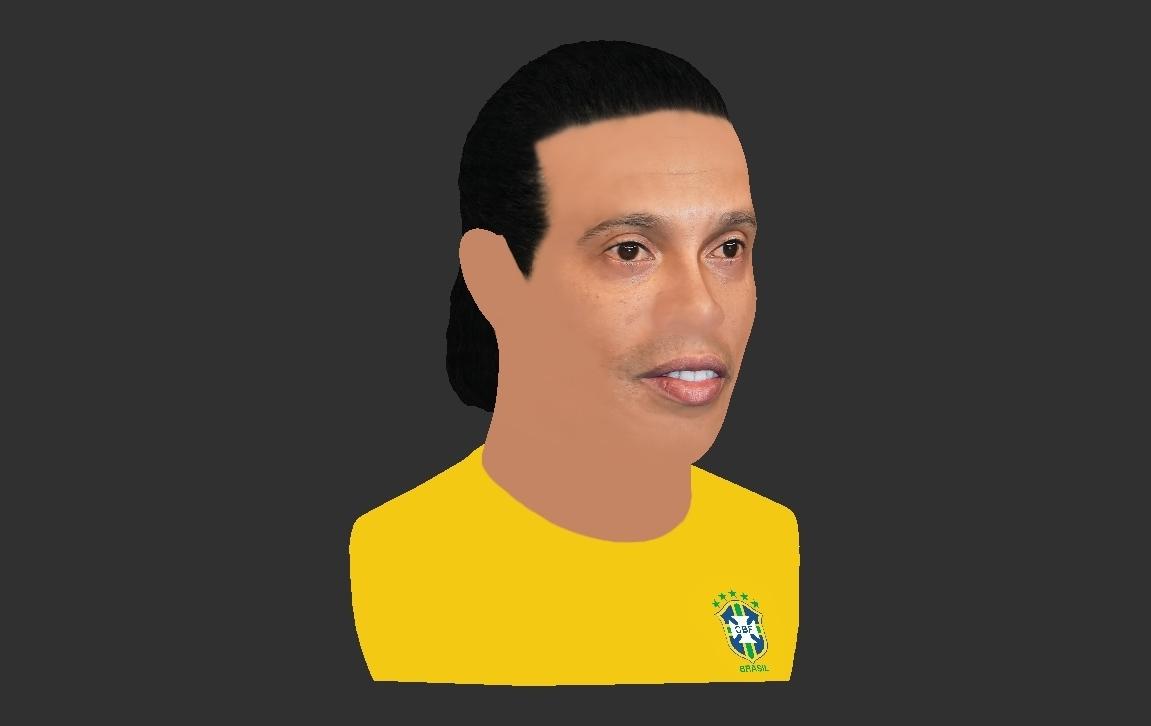 29.jpg Download STL file Ronaldinho bust ready for full color 3D printing • 3D print model, PrintedReality