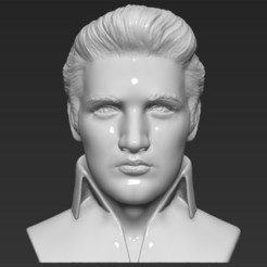 Download 3D printer files Elvis Presley bust 3D printing ready stl obj, PrintedReality