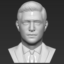 Download 3D printer designs Dean Winchester bust 3D printing ready stl obj formats, PrintedReality