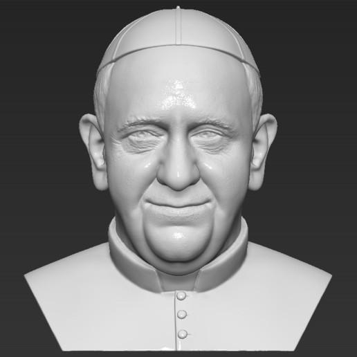 Télécharger fichier impression 3D Le pape François Buste d'impression 3D prêt à l'emploi stl obj formats prêts à l'impression, PrintedReality