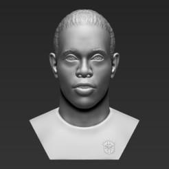 1.jpg Download STL file Ronaldinho bust 3D printing ready stl obj formats • 3D printable template, PrintedReality