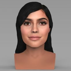 3D print files Kylie Jenner bust ready for full color 3D printing, PrintedReality