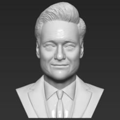 Download 3D printing designs Conan OBrien bust 3D printing ready stl obj formats, PrintedReality