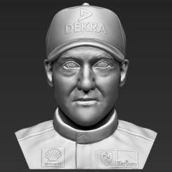 Modelos 3D Michael Schumacher busto 3D impresión stl listo objeto, PrintedReality