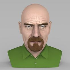 Download 3D printer files Walter White Breaking Bad bust ready for full color 3D printing, PrintedReality