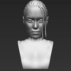 Fichier STL Lara Croft Angelina Jolie buste Lara Croft Angelina Jolie impression 3D stl obj prêt à l'emploi, PrintedReality
