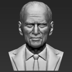 Download 3D model Prince Philip bust 3D printing ready stl obj, PrintedReality