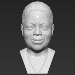 Download 3D printer designs Oprah Winfrey bust 3D printing ready stl obj, PrintedReality