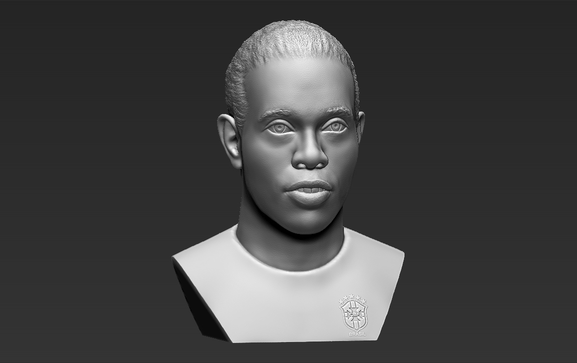 11.jpg Download STL file Ronaldinho bust ready for full color 3D printing • 3D print model, PrintedReality