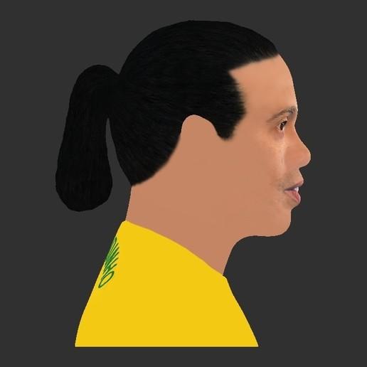 30.jpg Download STL file Ronaldinho bust ready for full color 3D printing • 3D print model, PrintedReality