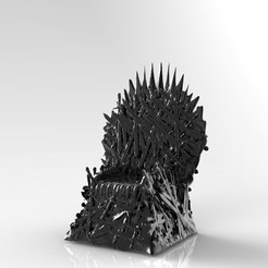 Bez_nazwy-7_display_large.jpg Download STL file Game of Thrones - Iron Throne • 3D printing design, PrintedReality