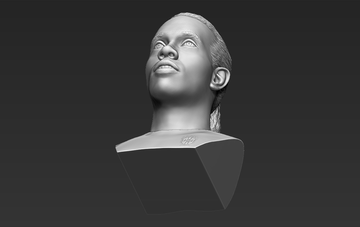 22.jpg Download STL file Ronaldinho bust 3D printing ready stl obj formats • 3D printable template, PrintedReality